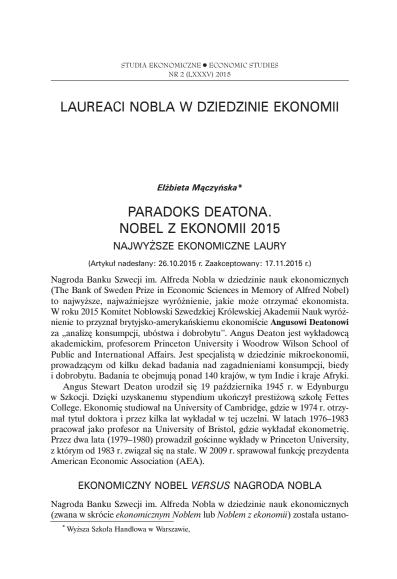 ParadoksDeatonaNobelzEkonomii2015
